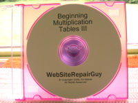 Beginning Multiplication Tables 3 Audio Learning CD