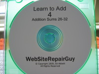 Learn to Add 4 Audio Learning CD